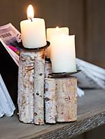 Недорогие -Современный современный деревянный Подсвечники Канделябр 1шт, Свеча / подсвечник