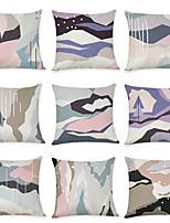 Недорогие -9 штук Лён Наволочка, Абстракция геометрический Modern Богемный Бросить подушку