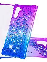 Недорогие -Кейс для Назначение SSamsung Galaxy Galaxy Note 10 / Galaxy Note 10 Plus Защита от удара / Движущаяся жидкость Кейс на заднюю панель Сияние и блеск / Градиент цвета ТПУ