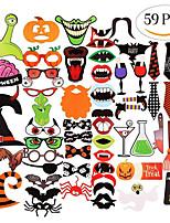 Недорогие -Halloween / фестиваль Аксессуары для вечеринок Реквизит и значки для фотографии Тыква / С узором Плотная бумага Классика / Креатив / Деревенская тема