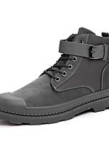 Недорогие -Муж. Кожаные ботинки Свиная кожа Осень / Наступила зима Классика / На каждый день Ботинки Ботинки Черный / Серый / Хаки