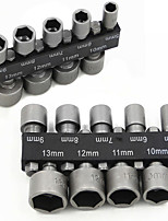 Недорогие -9 шт. 5-13 мм 1/4 дюйма гайка драйвер разъем адаптера метрической розетки ударные сверла