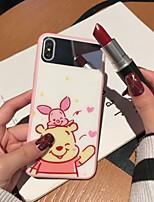 Недорогие -чехол для яблока iphone xs / iphone xr / iphone xs max зеркало / ультратонкий / рисунок с задней крышкой мультфильм закаленное стекло