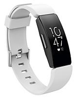 Недорогие -Ремешок для часов для Fitbit Inspire Fitbit Классическая застежка силиконовый Повязка на запястье