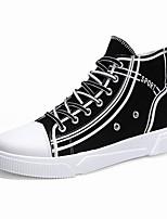 Недорогие -Муж. Комфортная обувь Полотно Осень На каждый день Кеды Нескользкий Контрастных цветов Черный / Белый / Бежевый