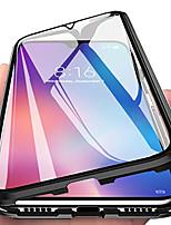 Недорогие -Кейс для Назначение OnePlus OnePlus 6 / OnePlus 5T / Oneplus 7 Магнитный Чехол Прозрачный Закаленное стекло
