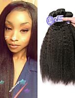 Недорогие -3 Связки Малазийские волосы Вытянутые человеческие волосы Remy 100% Remy Hair Weave Bundles Человека ткет Волосы Удлинитель Пучок волос 8-28 дюймовый Нейтральный Ткет человеческих волос / Без запаха