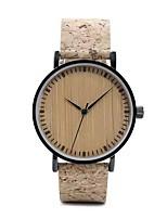 Недорогие -Для пары Нарядные часы Японский Японский кварц Стильные Натуральная кожа Коричневый Нет Повседневные часы деревянный Аналоговый На каждый день - Коричневый Два года Срок службы батареи