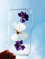 Недорогие -чехол для яблока iphone xs / iphone xr / iphone xs max ударопрочный / пылезащитный задняя крышка цветок тпу для iphone 7/7 плюс / 8/8 плюс / 6/6 плюс / х