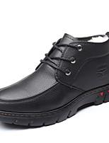 Недорогие -Муж. Комфортная обувь Полиуретан Зима На каждый день Ботинки Сохраняет тепло Ботинки Черный