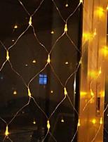 Недорогие -3x2M Гирлянды 320 светодиоды Тёплый белый Декоративная 220-240 V 1 комплект