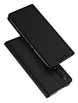 Недорогие -Кейс для Назначение Xiaomi Xiaomi Mi 9 Бумажник для карт / со стендом / Флип Чехол Однотонный Кожа PU / ТПУ
