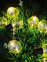 Недорогие -3M Гирлянды 10 светодиоды Тёплый белый Декоративная 5 V 1 комплект