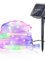 Недорогие -12м Гирлянды 100 светодиоды 1 монтажный кронштейн Тёплый белый / RGB / Белый Водонепроницаемый / Работает от солнечной энергии / Творчество Солнечная энергия 1 комплект