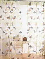 Недорогие -Цветы 1 панель Прозрачный Девочки   Curtains