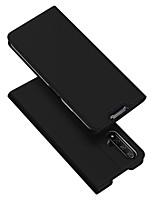 Недорогие -Кейс для Назначение Huawei Честь 20 Бумажник для карт / со стендом / Флип Чехол Однотонный Кожа PU / ТПУ