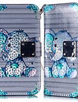Недорогие -Кейс для Назначение SSamsung Galaxy A6 (2018) / Galaxy A7(2018) / A8 2018 Кошелек / Бумажник для карт / со стендом Чехол Животное Кожа PU