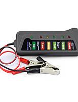 Недорогие -тестер аккумулятора 12v тестер аккумулятора портативный автомобильный аккумулятор тестер с 6 светодиодами