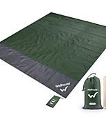 Недорогие -Походный коврик Коврик для пикника На открытом воздухе Компактность Удобный ТПУ Терилен 200*210 cm Пикник Весна Лето Зеленый Синий