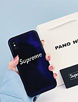 Недорогие -Кейс для Назначение Apple iPhone XS / iPhone XR / iPhone XS Max Ультратонкий / С узором Кейс на заднюю панель Однотонный / Слова / выражения ТПУ