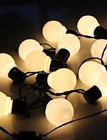 Недорогие -6м Гирлянды 20 светодиоды Тёплый белый Декоративная 220-240 V 1 комплект