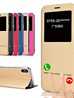Недорогие -чехол для яблока iphone xs / iphone xr / iphone xs max / 7 8plus / 6splus / 6s флип / матовый / авто сон / просыпаются все случаи тела блеск блеск искусственная кожа
