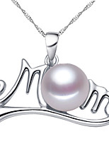 Недорогие -Жен. Ожерелья с подвесками Монограмма Буквы модный Жемчуг Хром Белый Лиловый Розовый 45 cm Ожерелье Бижутерия 1шт Назначение Подарок