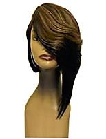 Недорогие -Парики из искусственных волос Естественные прямые Стиль Стрижка каскад Без шапочки-основы Парик Темно-серый Льняной Искусственные волосы 36~40 дюймовый Жен. Новое поступление Темно-серый Парик