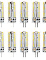 Недорогие -10 шт. 5 W Двухштырьковые LED лампы 500 lm G4 T 104 Светодиодные бусины SMD 3014 Новый дизайн Тёплый белый Белый 220-240 V 110-120 V