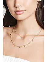 Недорогие -Жен. Ожерелья-обручи Хром Золотой 40 cm Ожерелье Бижутерия 1шт Назначение фестиваль