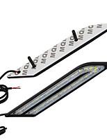 Недорогие -2 шт. / Компл. Автомобиль drl светодиодные фары дневного света автомобильный тормоз&усилитель руля источник света стайлинг автомобиля водонепроницаемые противотуманные фары dc12v