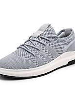 Недорогие -Муж. Комфортная обувь Эластичная ткань / Tissage Volant Осень На каждый день Кеды Нескользкий Черный / Серый