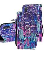 Недорогие -Кейс для Назначение SSamsung Galaxy Note 9 / Note 8 / Galaxy Note 10 Кошелек / Бумажник для карт / Защита от удара Чехол Мультипликация Кожа PU