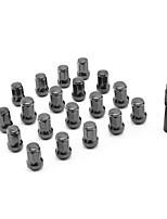 Недорогие -m12 20 шт. / компл. 1.5 шлицевые гайки крепления колесных гаек конус желудь конус сиденья