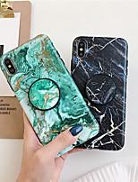 Недорогие -чехол для яблока iphone xs / iphone xr / iphone xs max с подставкой / узором задняя крышка мраморное тпу для iphone x 8 8plus 7 7plus 6 6s 6plus 6splus