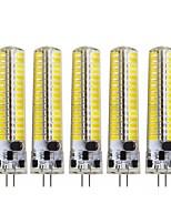 Недорогие -5 шт. 5 W Двухштырьковые LED лампы 400-490 lm G4 120 Светодиодные бусины SMD 5730 Декоративная Милый Тёплый белый Холодный белый 12-24 V