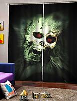 Недорогие -Роскошные уф-дигталь печать шторы счастливый хэллоуин тема личности оригинальные утолщение затемнения пользовательские шторы для дома decro