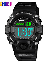 cheap -SKMEI Smartwatch Digital Modern Style Sporty Silicone 30 m Water Resistant / Waterproof Casual Watch Cool Digital Casual Fashion - Black Green Blue