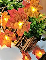 Недорогие -кленовый лист струнные фонари свет мерцание висячие освещения украшения для внутреннего сада на открытом воздухе хэллоуин день благодарения декор градиент цвета