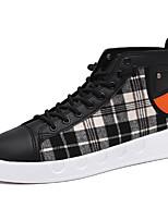 Недорогие -Муж. Комфортная обувь Полиуретан Лето Кеды Черный / Белый