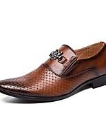 Недорогие -Муж. Комфортная обувь Микроволокно Весна лето Мокасины и Свитер Черный / Коричневый