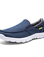 Недорогие -Муж. Комфортная обувь Полотно Лето На каждый день Мокасины и Свитер Нескользкий Синий / Серый