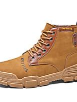 Недорогие -Муж. Fashion Boots Искусственная кожа Зима / Наступила зима На каждый день Ботинки Для прогулок Дышащий Ботинки Черный / Серый / Хаки