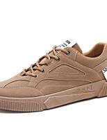 Недорогие -Муж. Комфортная обувь Синтетика Весна лето На каждый день Кеды Черный / Коричневый / Серый