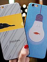 Недорогие -чехол для яблока iphone xs max / iphone 8 plus / iphone 7/7 plus / 8/6/6 plus / xr / x / xs пыленепроницаемый / тисненый / задняя крышка с рисунком кошка / рыба тпу / силикагель