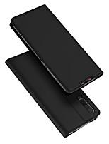 Недорогие -Кейс для Назначение Xiaomi Xiaomi CC9 Бумажник для карт / со стендом / Флип Чехол Однотонный Кожа PU / ТПУ