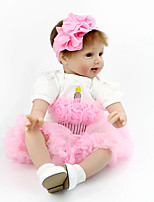 Недорогие -NPK DOLL Куклы реборн Кукла с шаром Куклы Девочки 22 дюймовый Безопасность Подарок Очаровательный Детские Универсальные Игрушки Подарок