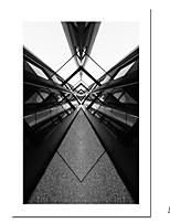 Недорогие -С картинкой Роликовые холсты - Абстракция Архитектура Modern Репродукции