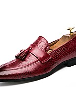 Недорогие -Муж. Комфортная обувь Микроволокно Наступила зима Мокасины и Свитер Черный / Красный