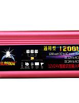 Недорогие -высокое качество автомобильный инвертор 12vand24v до 110v 1200w многофункциональное автомобильное зарядное устройство / инвертор / конвертер с USB-разъемом